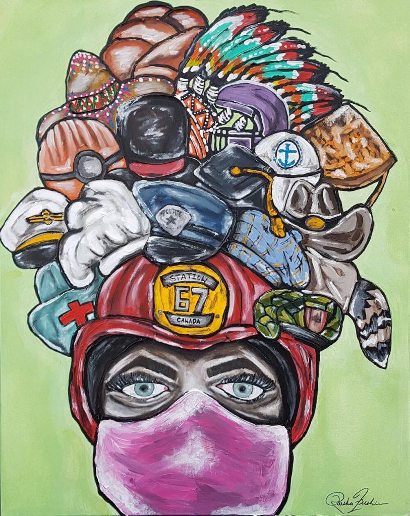 'Hats Off' by artist Keesha Freskiw